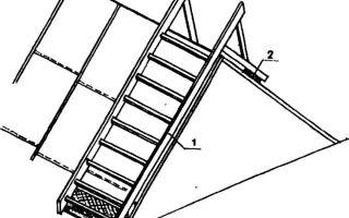 Лестница для кровли крыши своими руками: технология изготовления