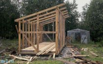 Каркасный сарай с односкатной крышей: строительство своими руками