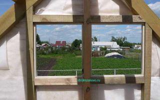 Окна на фронтоне крыши: назначение и разновидности, способы установки оконного блока