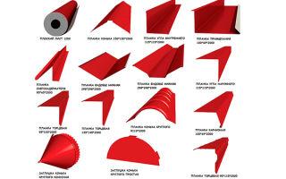 Доборные элементы для кровли из профнастила: обзор и характеристики материалов