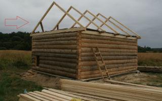 Двухскатная крыша на сруб: расчет конструкции и особенности технологии