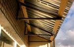 Крыша на балкон: какие используются материалы, правила монтажа