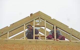 Обзор и тонкости сооружения каркасных торцовых стен крыши своими руками