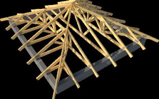 Как произвести монтаж стропильной системы шатровой крыши: описание двух вариантов строительства
