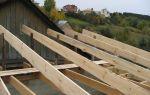 Односкатная крыша из бруса: описание технологии выполнения