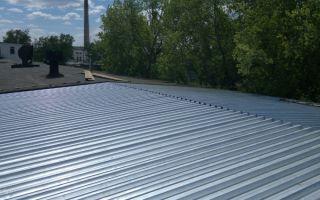 Строительство и инструкция по монтажу крыши из профлиста с минимальным уклоном