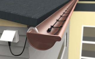 Греющий кабель для водостока и крыши: монтаж системы антиобледенения своими руками