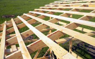 Крепление стропил односкатной крыши: технология монтажа