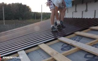 Односкатная крыша из профнастила: мастер-класс по строительству