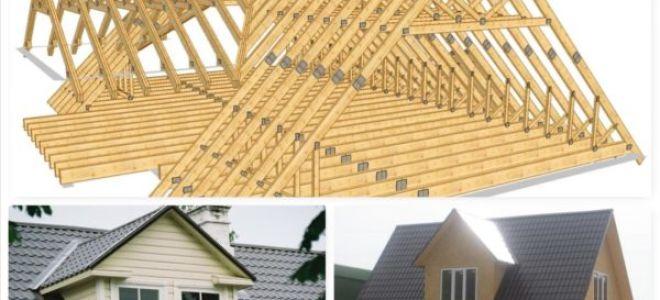 Полный обзор двухскатных крыш: виды и варианты конструкйий