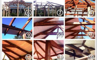 Беседка с четырехскатной крышей: обзор популярных конструкций