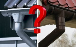 Какой водосток лучше: пластиковый или металлический? Обзор строительных материалов