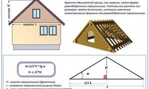 Как рассчитать высоту конька двухскатной крыши: определение размеров по формуле